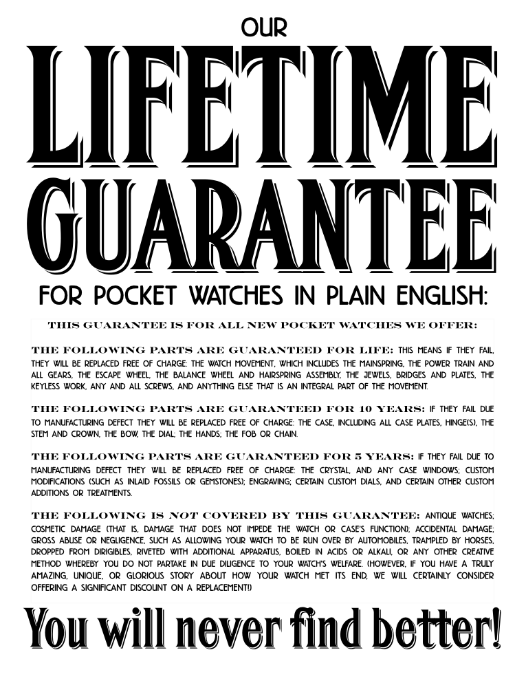 Lifetime Guarantee SPWF