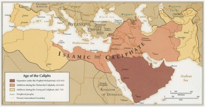 The reach of the Caliphate.